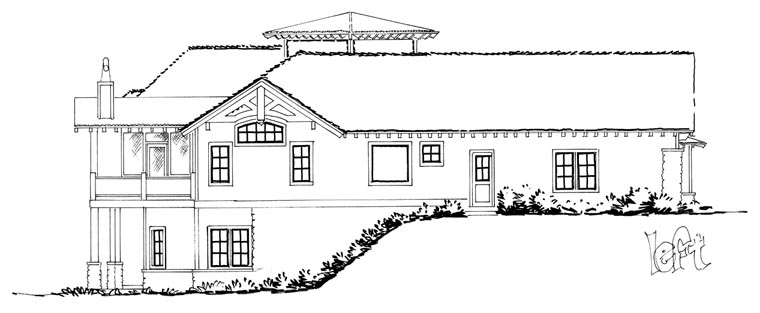 Craftsman European Tudor House Plan 43220