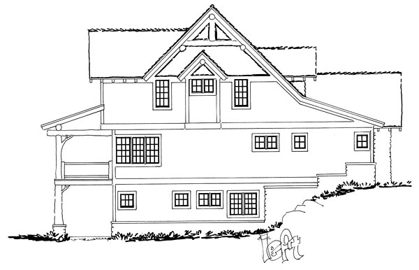 Bungalow, Country, Craftsman House Plan 43221 with 5 Beds, 4 Baths, 2 Car Garage Picture 2