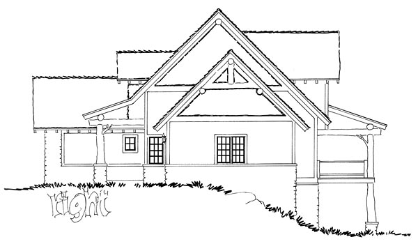 Bungalow, Country, Craftsman House Plan 43221 with 5 Beds, 4 Baths, 2 Car Garage Picture 3