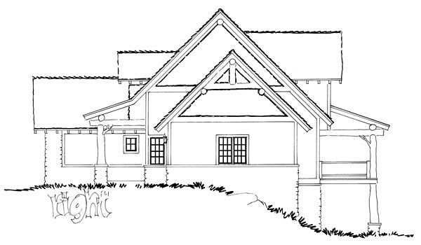 Bungalow, Country, Craftsman House Plan 43222 with 5 Beds, 4 Baths, 1 Car Garage Picture 3