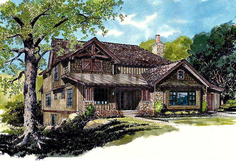 Bungalow Cottage Country Craftsman Elevation of Plan 43223