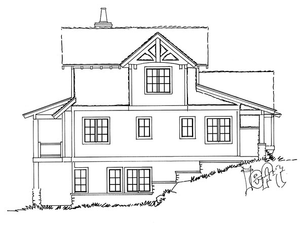 Bungalow, Cottage, Country, Craftsman House Plan 43224 with 5 Beds, 4 Baths, 1 Car Garage Picture 1