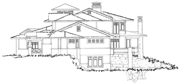 Bungalow Contemporary Craftsman House Plan 43225