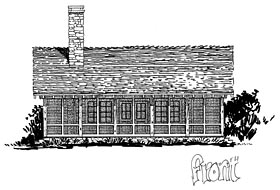 Cabin Country Ranch Southern House Plan 43227 Elevation