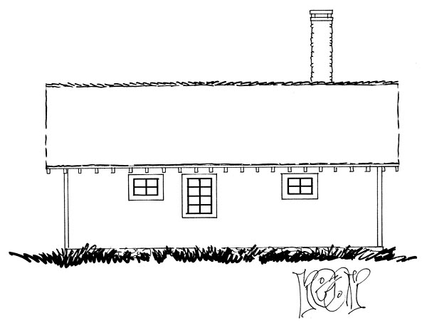 Cabin Country Ranch Southern House Plan 43227 Rear Elevation