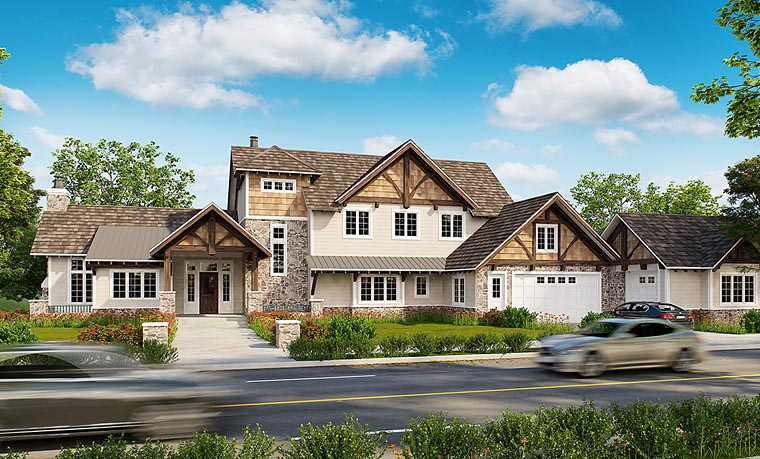 Country Craftsman Southern House Plan 43228 Elevation