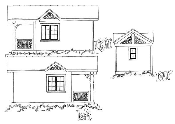 Cabin Country Log House Plan 43230 Rear Elevation