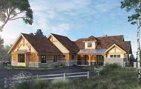 Country Craftsman Tudor House Plan 43232 Elevation