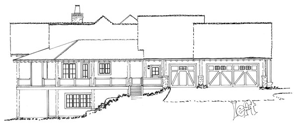 Country Craftsman Tudor House Plan 43232