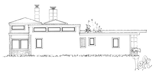Contemporary, Modern House Plan 43233, 3 Car Garage Picture 2