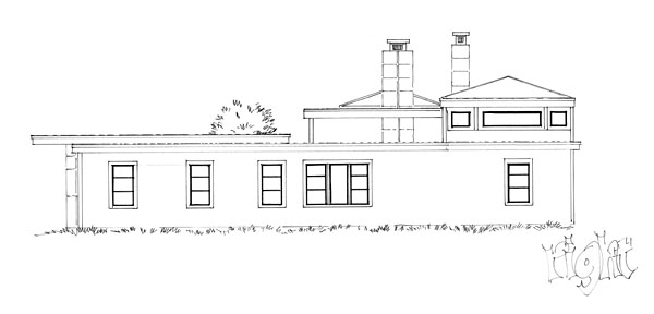 Contemporary, Modern House Plan 43233, 3 Car Garage Picture 3