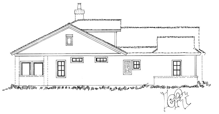 Traditional House Plan 43234 with 3 Beds, 4 Baths, 2 Car Garage Picture 2