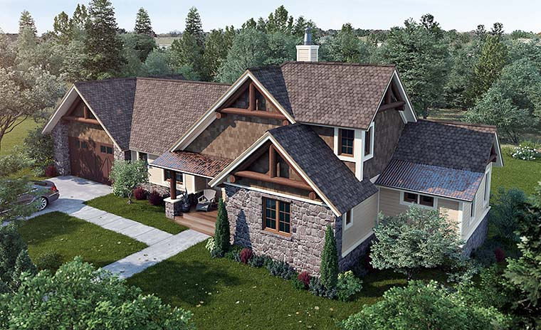 Bungalow Cottage Country Craftsman House Plan 43235 Elevation