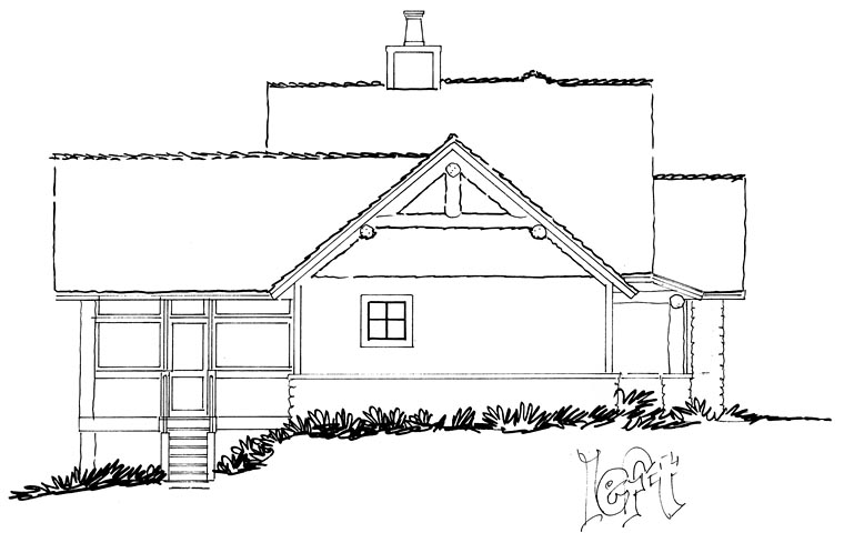 Bungalow Cottage Country Craftsman House Plan 43235