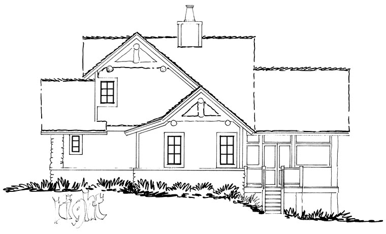 Bungalow, Cottage, Country, Craftsman House Plan 43235 with 3 Beds, 3 Baths Picture 3