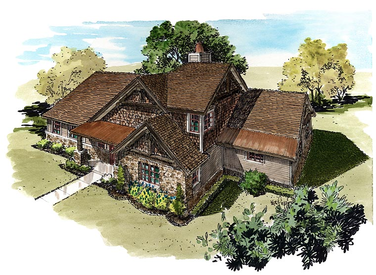 Bungalow, Cottage, Country, Craftsman House Plan 43235 with 3 Beds, 3 Baths Picture 4