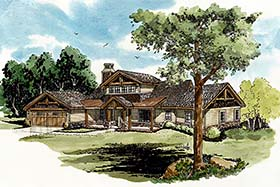 Cottage Country Craftsman House Plan 43238 Elevation