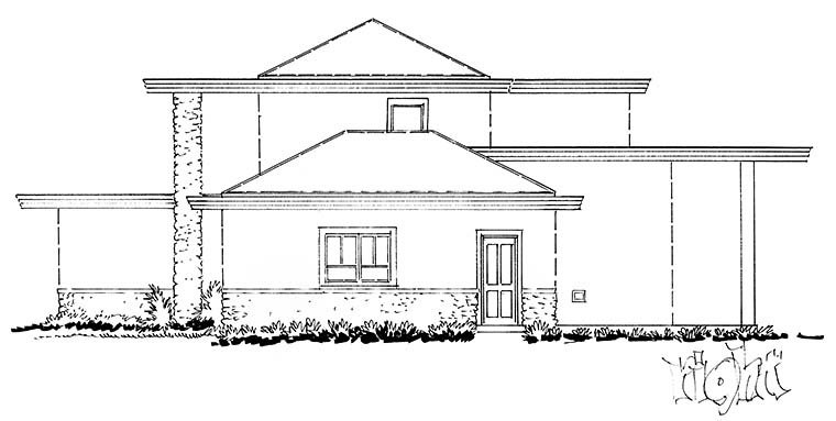 Contemporary, Modern House Plan 43239 with 3 Beds, 3 Baths, 2 Car Garage Picture 1