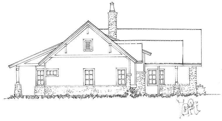 Country, Farmhouse House Plan 43240 with 3 Beds, 3 Baths, 2 Car Garage Picture 2