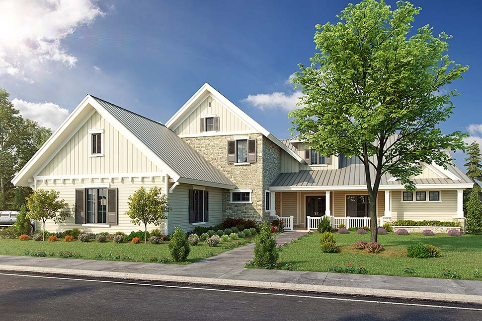 Country Farmhouse Traditional House Plan 43243 Elevation
