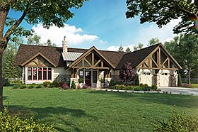 Bungalow Craftsman Ranch House Plan 43244 Elevation
