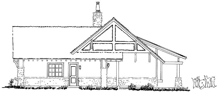 Bungalow, Craftsman, Ranch House Plan 43244 with 3 Beds, 3 Baths, 2 Car Garage Picture 1