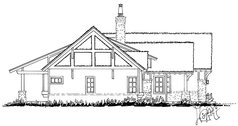 Bungalow, Craftsman, Ranch House Plan 43244 with 3 Beds, 3 Baths, 2 Car Garage Picture 2