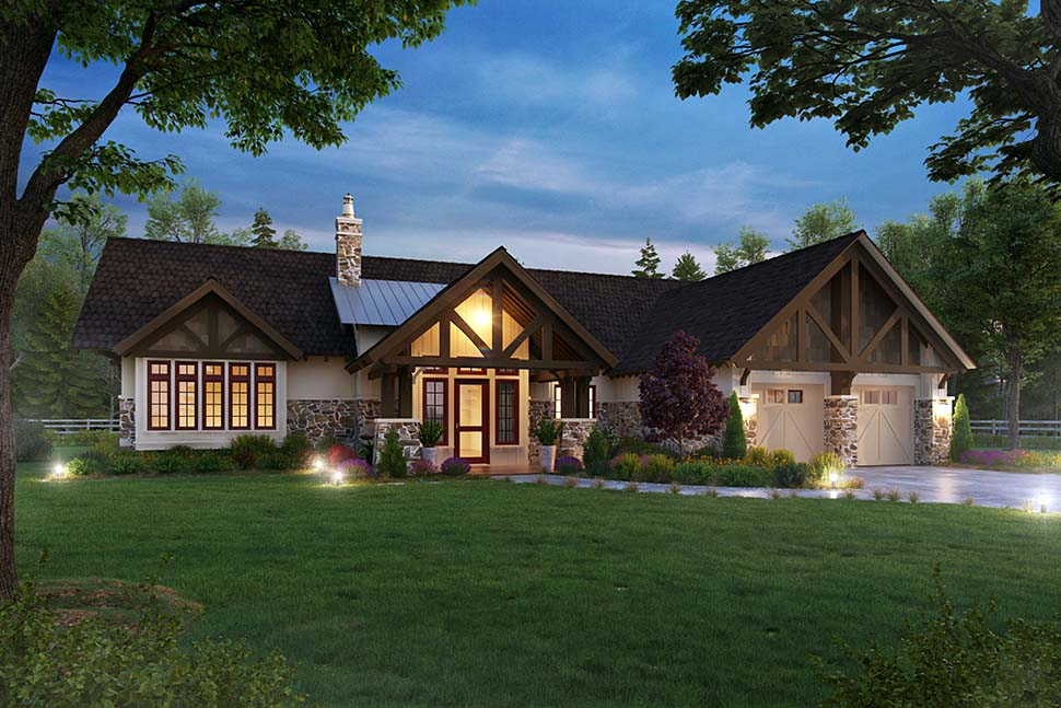 Bungalow, Craftsman, Ranch House Plan 43244 with 3 Beds, 3 Baths, 2 Car Garage Picture 3