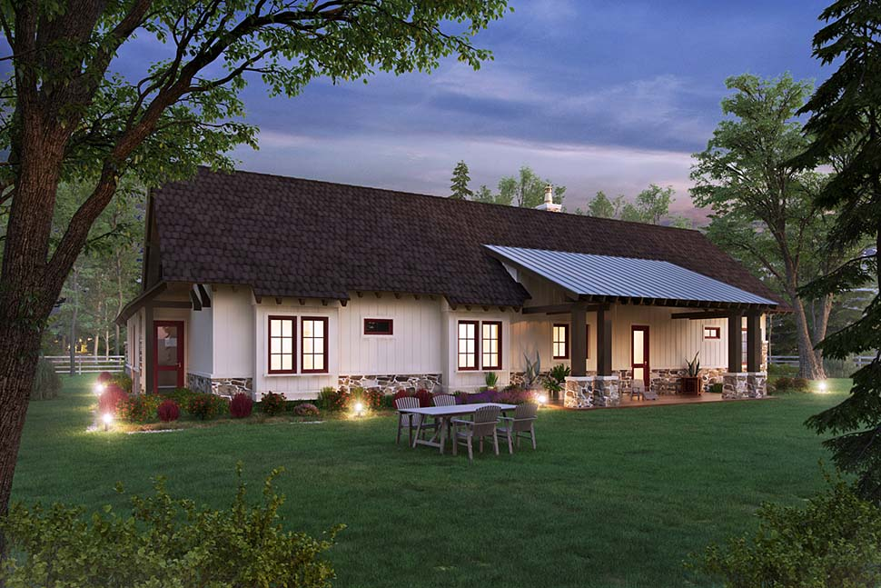 Bungalow, Craftsman, Ranch House Plan 43244 with 3 Beds, 3 Baths, 2 Car Garage Picture 4