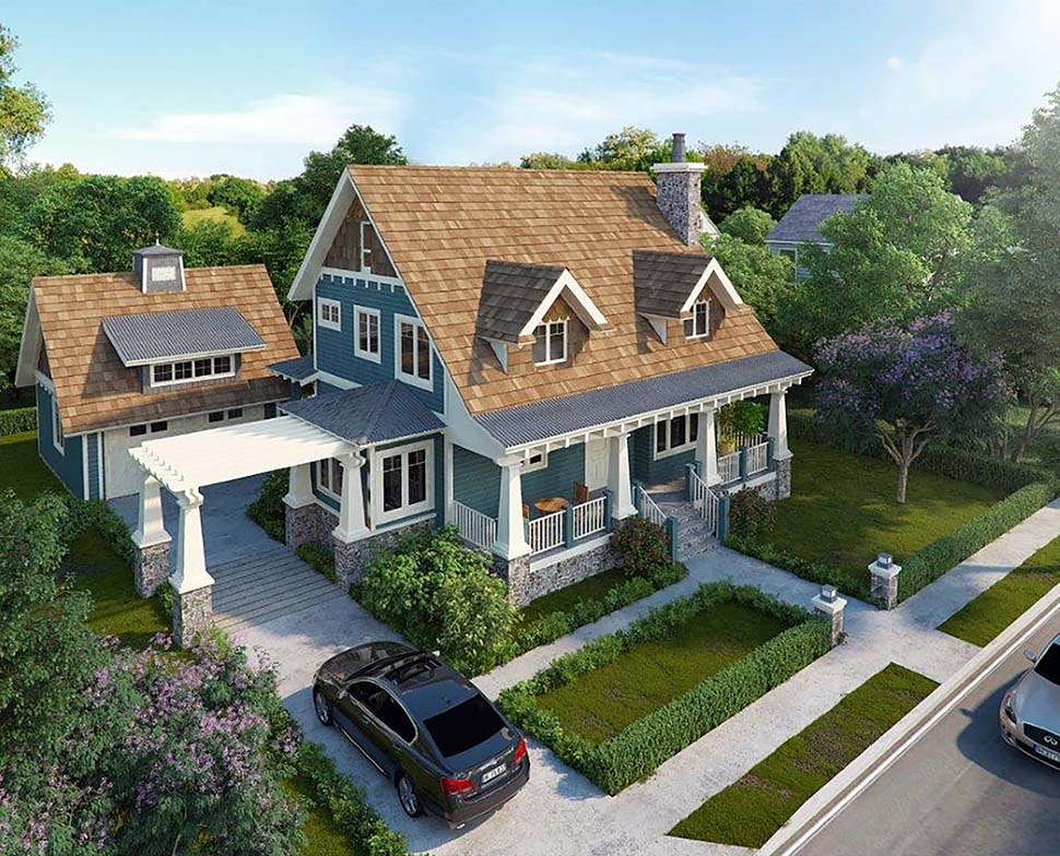 Craftsman , Cottage , Bungalow House Plan 43246 with 3 Beds, 3 Baths, 2 Car Garage Elevation