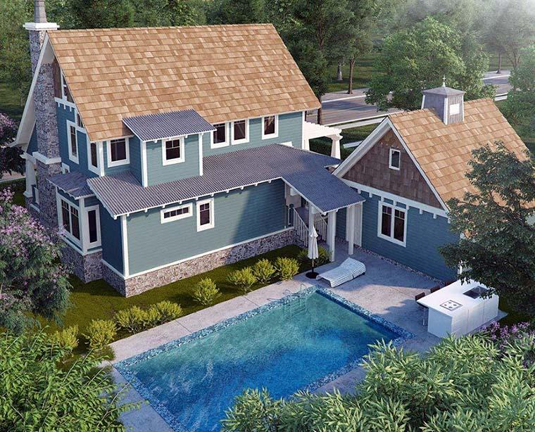 Bungalow Cottage Craftsman House Plan 43246 Rear Elevation