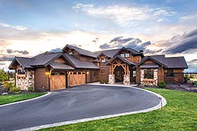 Craftsman , Country House Plan 43301 with 3 Beds, 5 Baths, 3 Car Garage Elevation