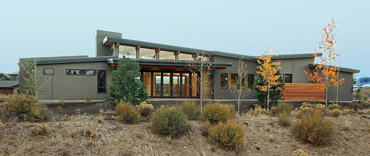 Contemporary, Modern House Plan 43316 with 3 Beds, 4 Baths, 3 Car Garage Picture 5