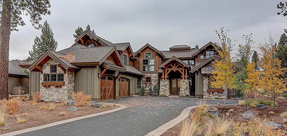 Craftsman House Plan 43325 with 5 Beds, 6 Baths, 3 Car Garage Elevation