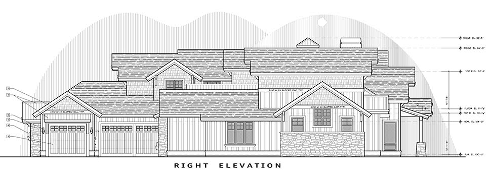 Craftsman House Plan 43325 with 5 Beds, 6 Baths, 3 Car Garage Picture 1