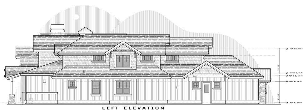 Craftsman House Plan 43325 with 5 Beds, 6 Baths, 3 Car Garage Picture 2