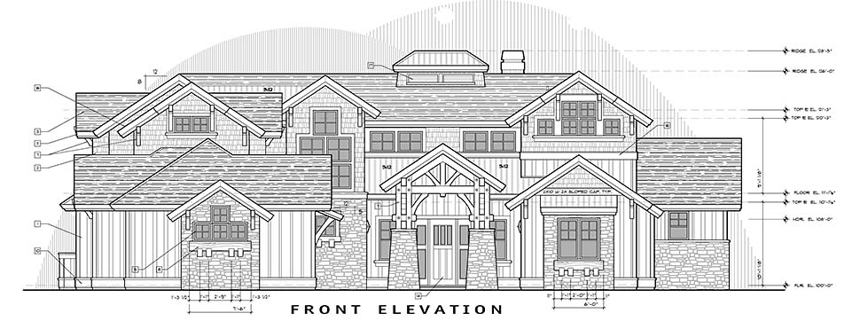Craftsman House Plan 43325 with 5 Beds, 6 Baths, 3 Car Garage Picture 3