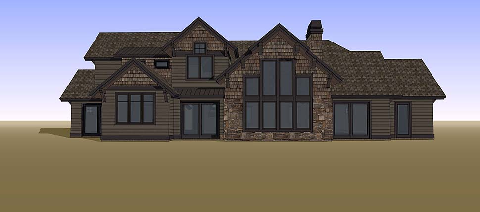 Country, Craftsman House Plan 43326 with 5 Beds, 6 Baths, 3 Car Garage Picture 15