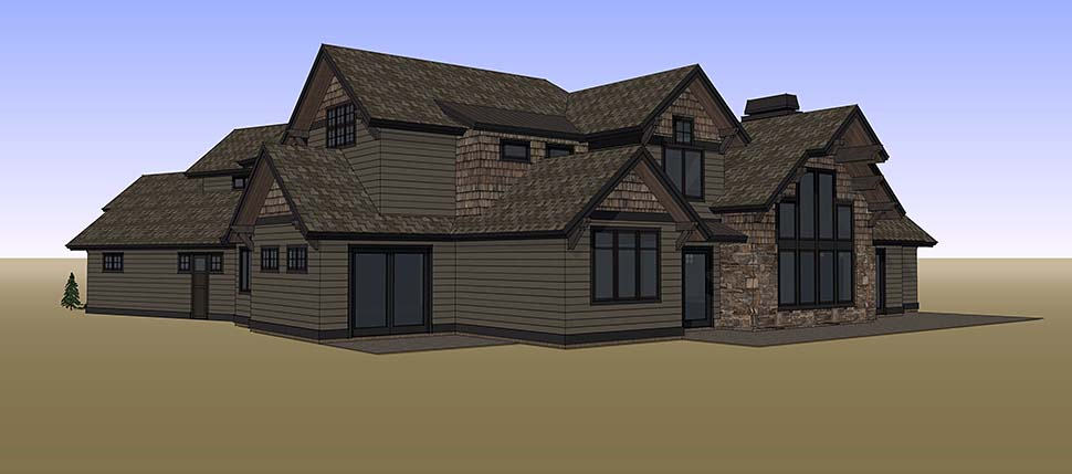Country, Craftsman House Plan 43326 with 5 Beds, 6 Baths, 3 Car Garage Picture 16