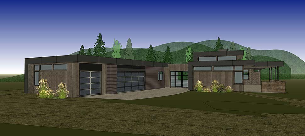 Modern House Plan 43330 with 3 Beds, 4 Baths, 3 Car Garage Picture 11