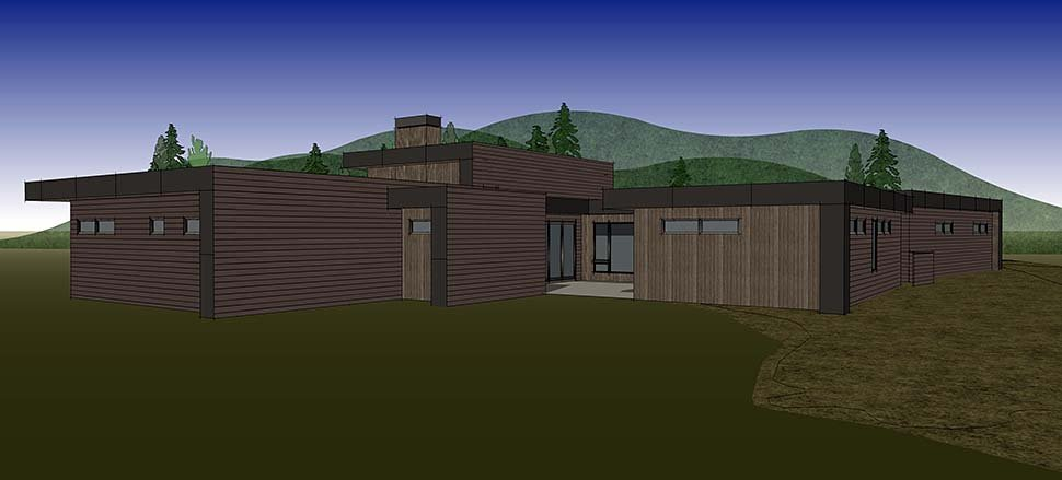 Modern House Plan 43330 with 3 Beds, 4 Baths, 3 Car Garage Picture 12
