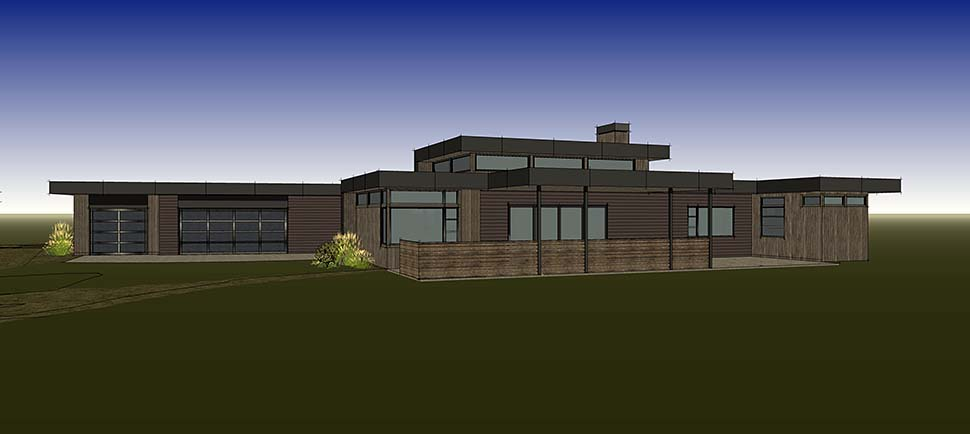 Modern House Plan 43330 with 3 Beds, 4 Baths, 3 Car Garage Picture 13