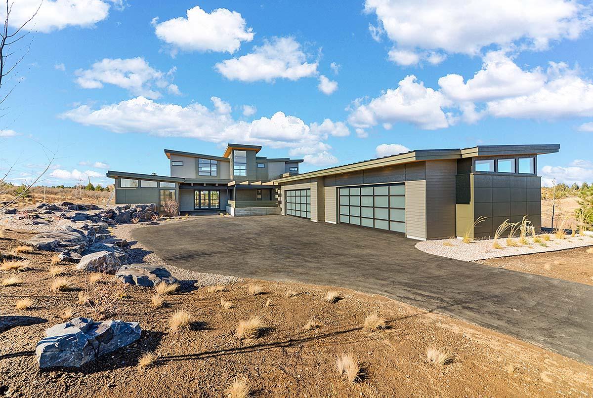 Modern House Plan 43332 with 4 Beds, 5 Baths, 4 Car Garage Elevation