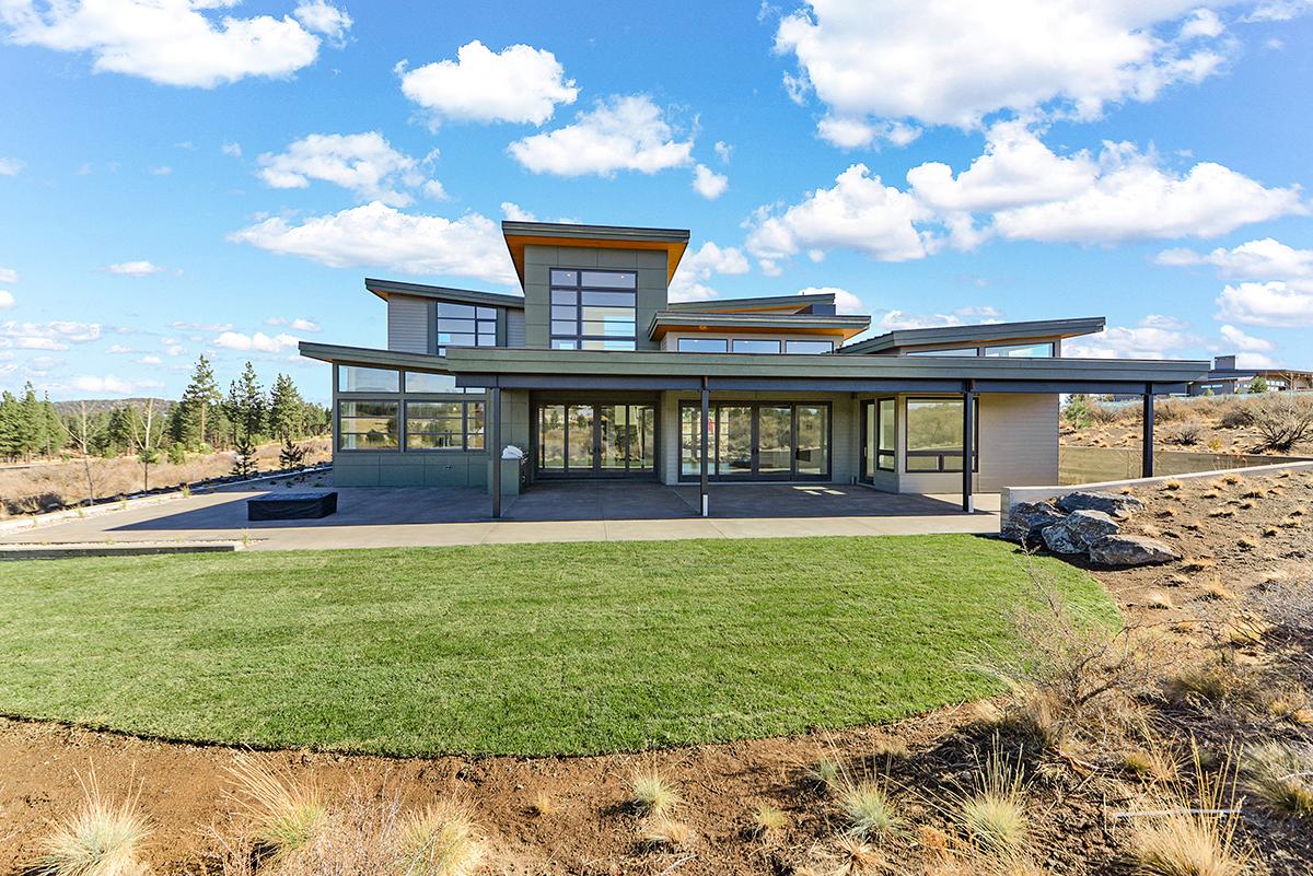 Modern House Plan 43332 with 4 Beds, 5 Baths, 4 Car Garage Rear Elevation