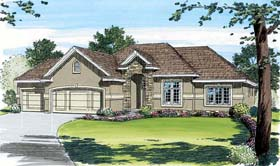 Traditional House Plan 44001 with 3 Beds, 2 Baths, 3 Car Garage Elevation