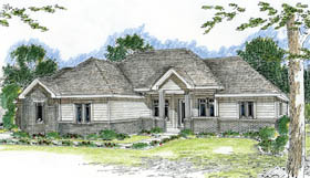 Traditional House Plan 44002 Elevation