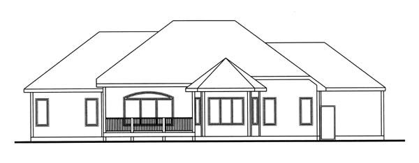 Traditional House Plan 44002 Rear Elevation