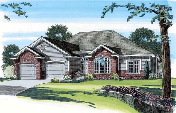 Traditional House Plan 44003 Elevation