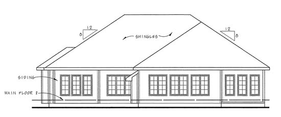 Traditional House Plan 44003 Rear Elevation