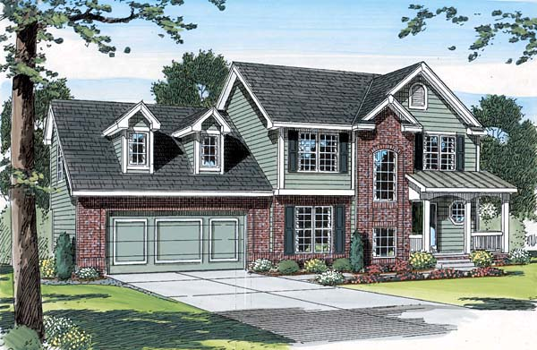 Traditional House Plan 44004 Elevation